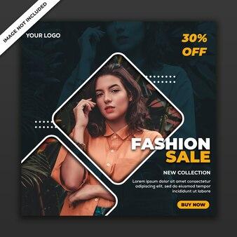 Social media post-sjabloon instagram fashion sale collectie