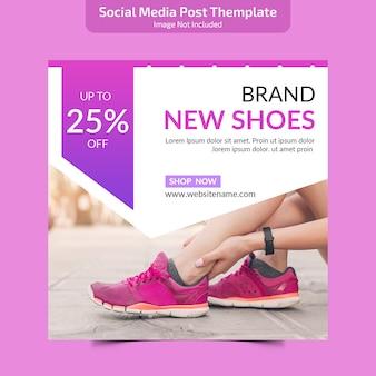 Social media post themplate
