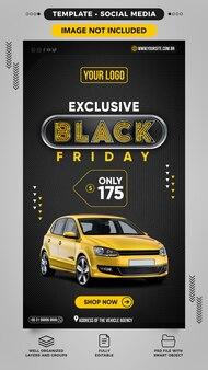 Social media post verhalen over black friday car sales