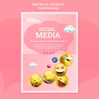Social media poster sjabloon