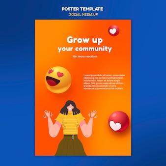 Social media poster sjabloon