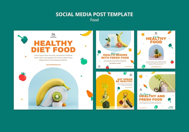 Social media posts over gezonde voeding