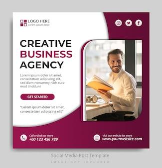 Social media postsjabloon voor creatief zakelijk bureau