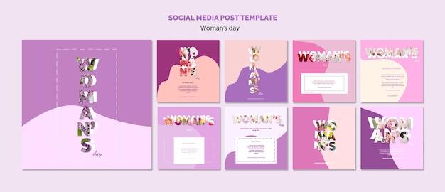 Social media postsjabloon