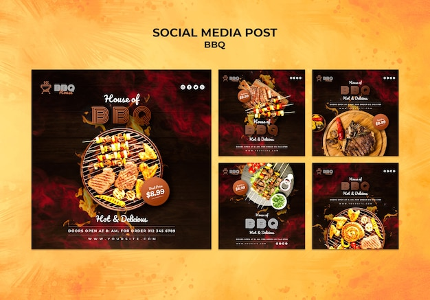 Social media postverzameling voor barbecue