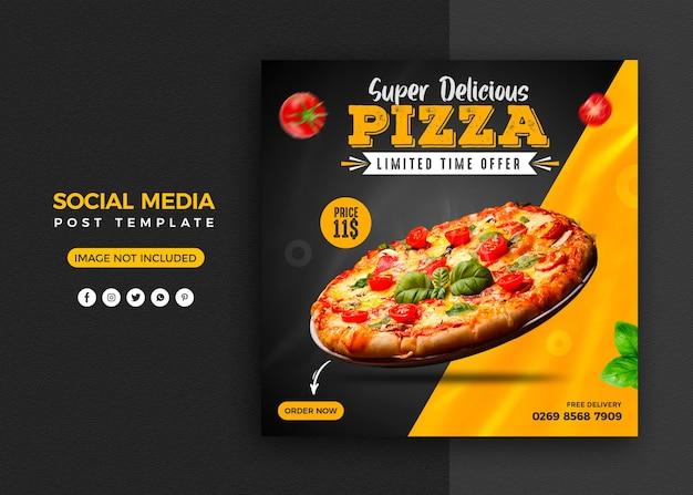 Social media promotie en instagram banner post ontwerpsjabloon