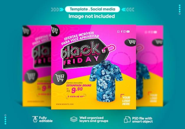 Social media sjabloon instagram black friday productverkoop