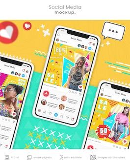 Social media smartphone-mockup