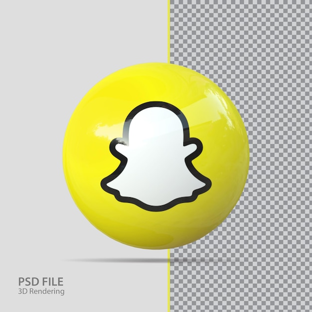 Social media snapchat 3d render
