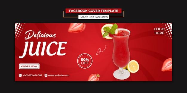 Social media succhi deliziosi e modello di copertina di facebook
