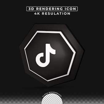 Social media tiktok 3d-knop rendering