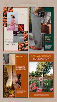 Social media-verhaal in vintage mode-thema