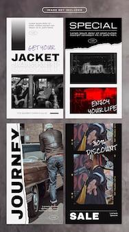 Social media-verhaal met street fashion