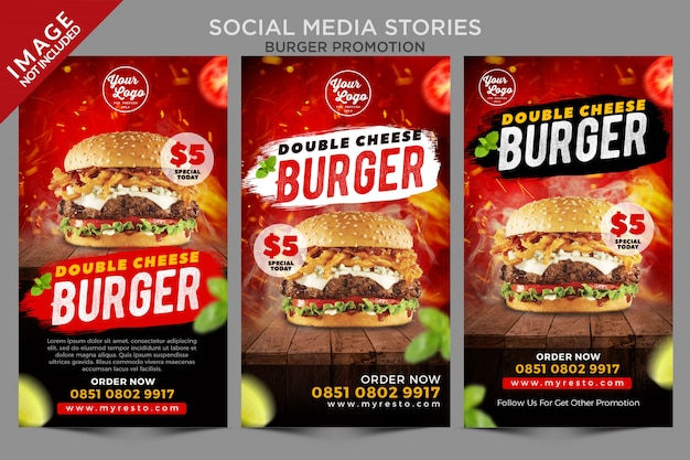 Social media verhalen burger promotie serie