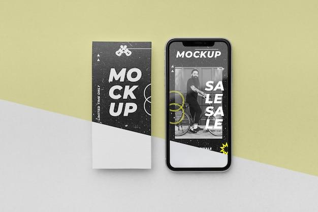 Social media verhalen en smartphone mock-up