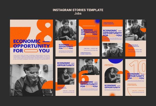 Social media-verhalen over vacatures