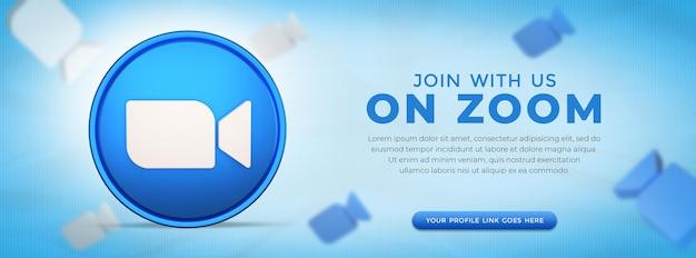Social media zoom app-pictogram in 3d-rendering