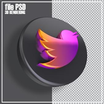 Sociale media 3d-pictogrammen weergeven