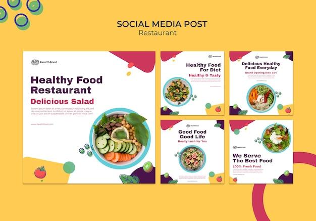 Sociale media-berichten van restaurants