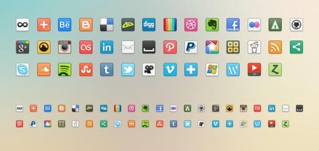 Sociale media pictogrammen png