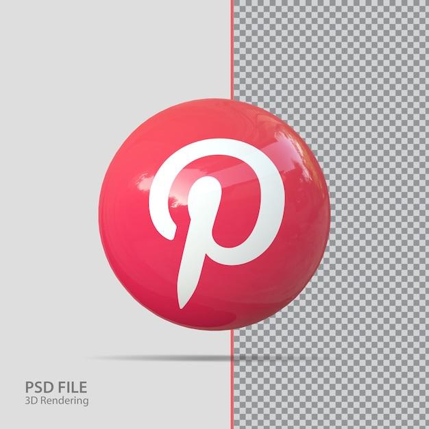 Sociale media pinterest 3d render