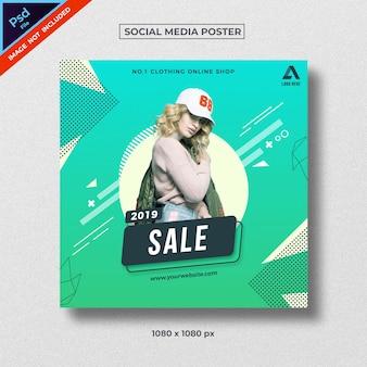 Sociale media poster abstracte stijl