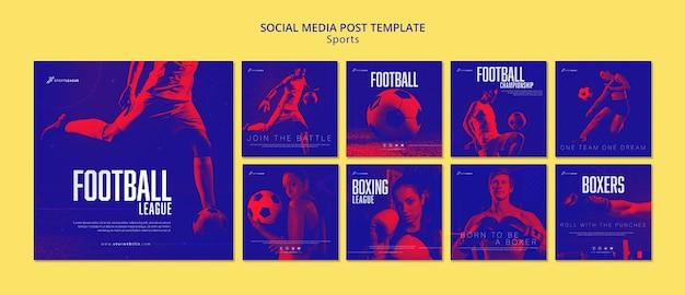 Sociale media postsjabloon