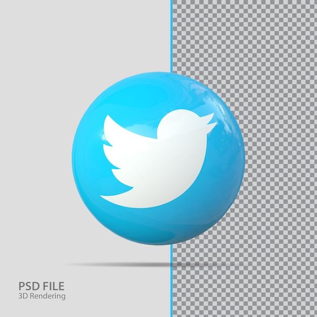 Sociale media twitter 3d render