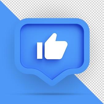 Sociale media zoals pictogram geïsoleerd ontwerp