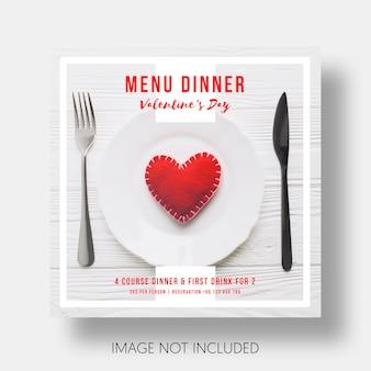 Sociale sjabloon restaurant valentijnsdag