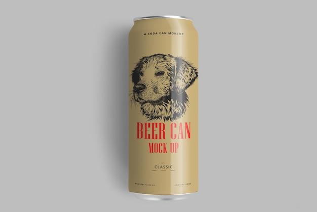 Soda o beer can mockup