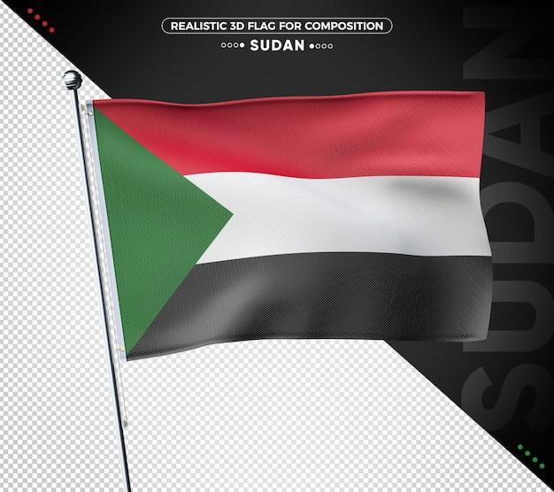 Soedan 3d geweven vlag voor samenstelling