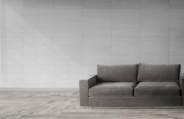 Sofá en una habitación moderna.