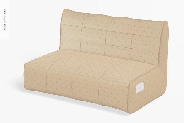 Sofa mockup, perspectief