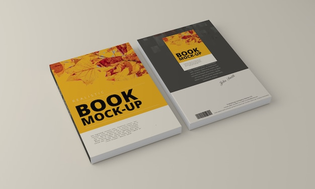 Softcover-boek mock-up