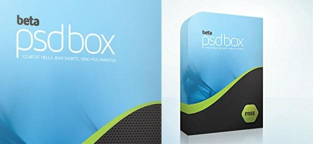 Software box psd mockup