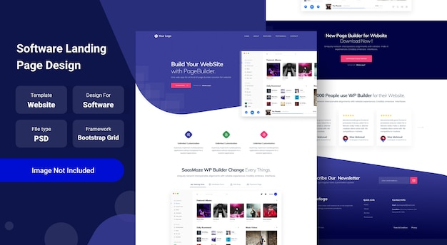 Software en saas landing page website template