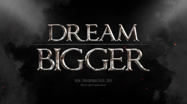Sogna un effetto di stile testo 3d più grande