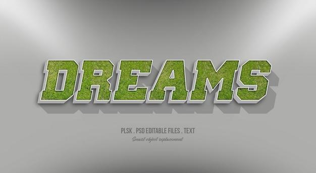Sogni effetto testo in stile 3d