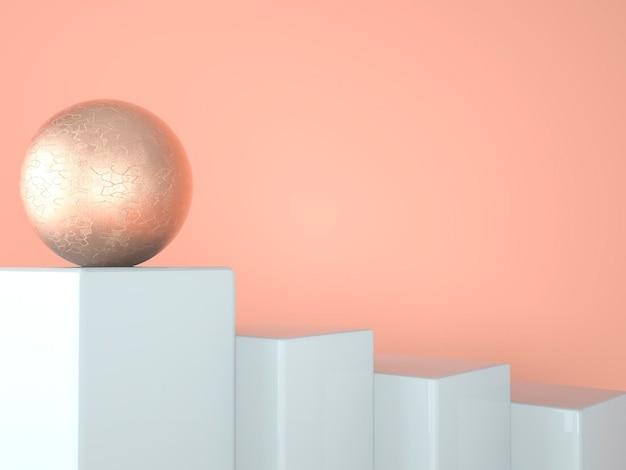 Sokkelplatformontwerp in 3d-rendering met geometrische vormen