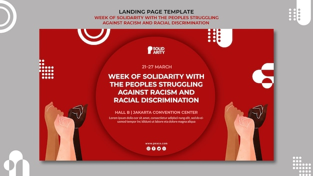 Solidariteit voor mensen die worstelen met de bestemmingspagina van racisme