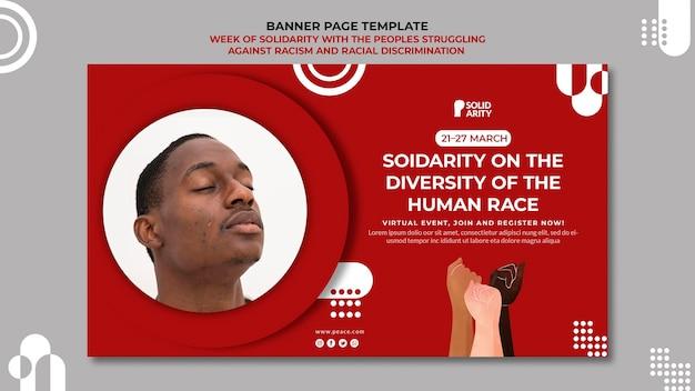 Solidariteit voor mensen die worstelen met racismebanner