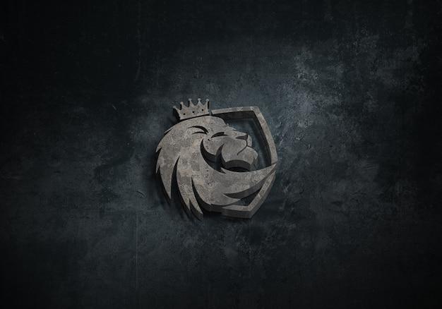 Solide 3d-logo-mockup