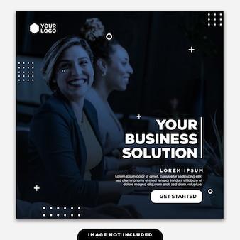 Solución de plantilla de negocio de banner de instagram para publicaciones en redes sociales
