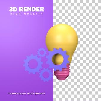 Soluciones creativas de renderizado 3d para resolver problemas.