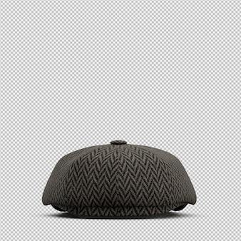 Sombrero isométrico render 3d aislado