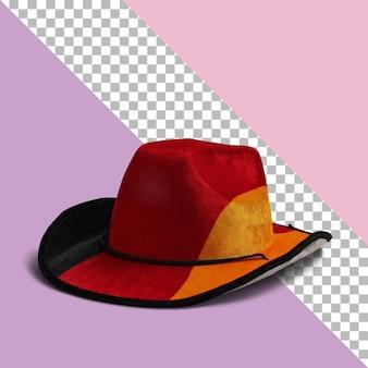 Sombrero de vaquero de cuero marrón aislado