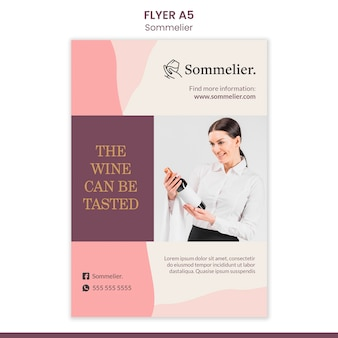 Sommelier advertentie sjabloon flyer