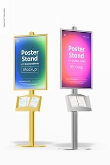 Soportes de póster con maqueta de porta folletos