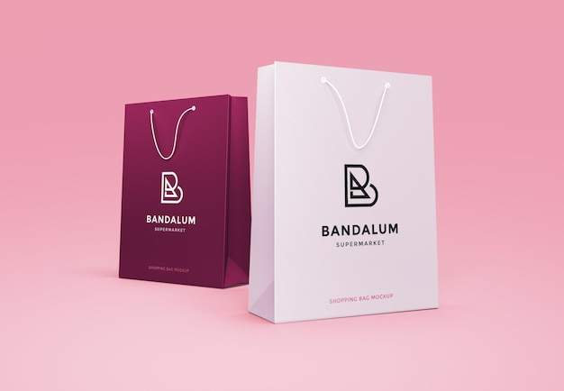 Sopping bag branding mockup ontwerp